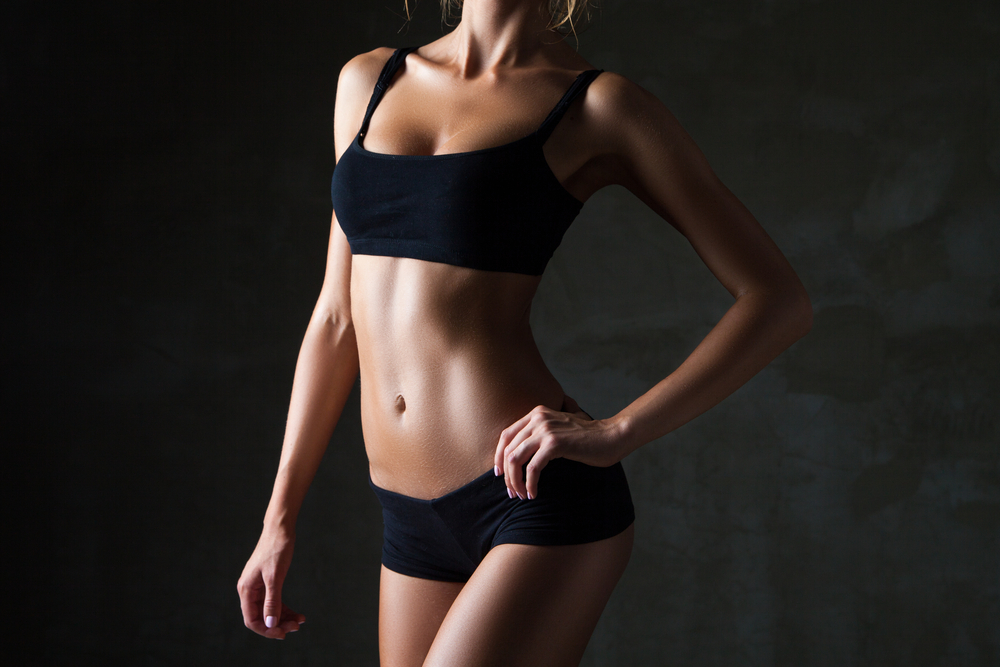 woman with slim and toned body